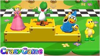 Mario Party 9 High Roller - Peach vs Koopa vs Yoshi vs Kamek Master CPU Gameplay