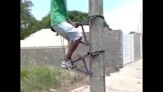 How to climb on Electric pole for repair