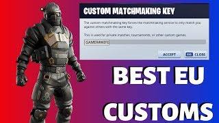 BEST EU CUSTOM MATCHMAKING / USE CODE GAMER4WIFE Fortnite Battle Royale LIVE
