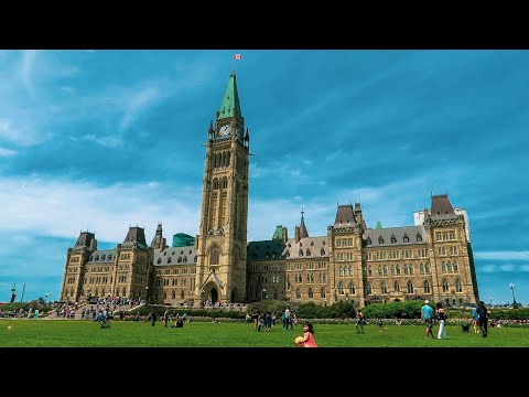 Parliament Hill Buildings Outside Tour, Ottawa, Canada
