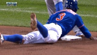 Granderson slides in safely to steal third
