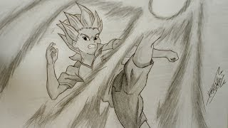 Dibujando a Axel Blaze (Inazuma Eleven)