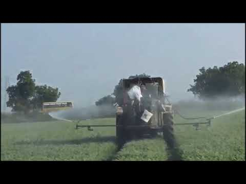 Agriculture -  Spraying Pesticide in fields with machine
