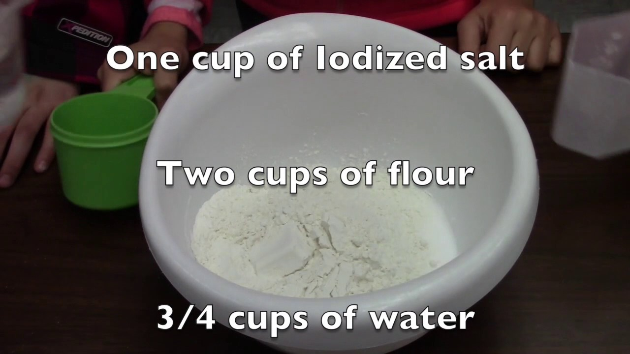 How To Make a Salt Dough Map - YouTube