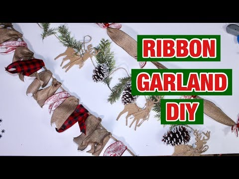 Buffalo Check Christmas Wreath.Making A Christmas Garland With Buffalo Check Ribbon 3 Farmhouse Style Christmas Garland Ideas