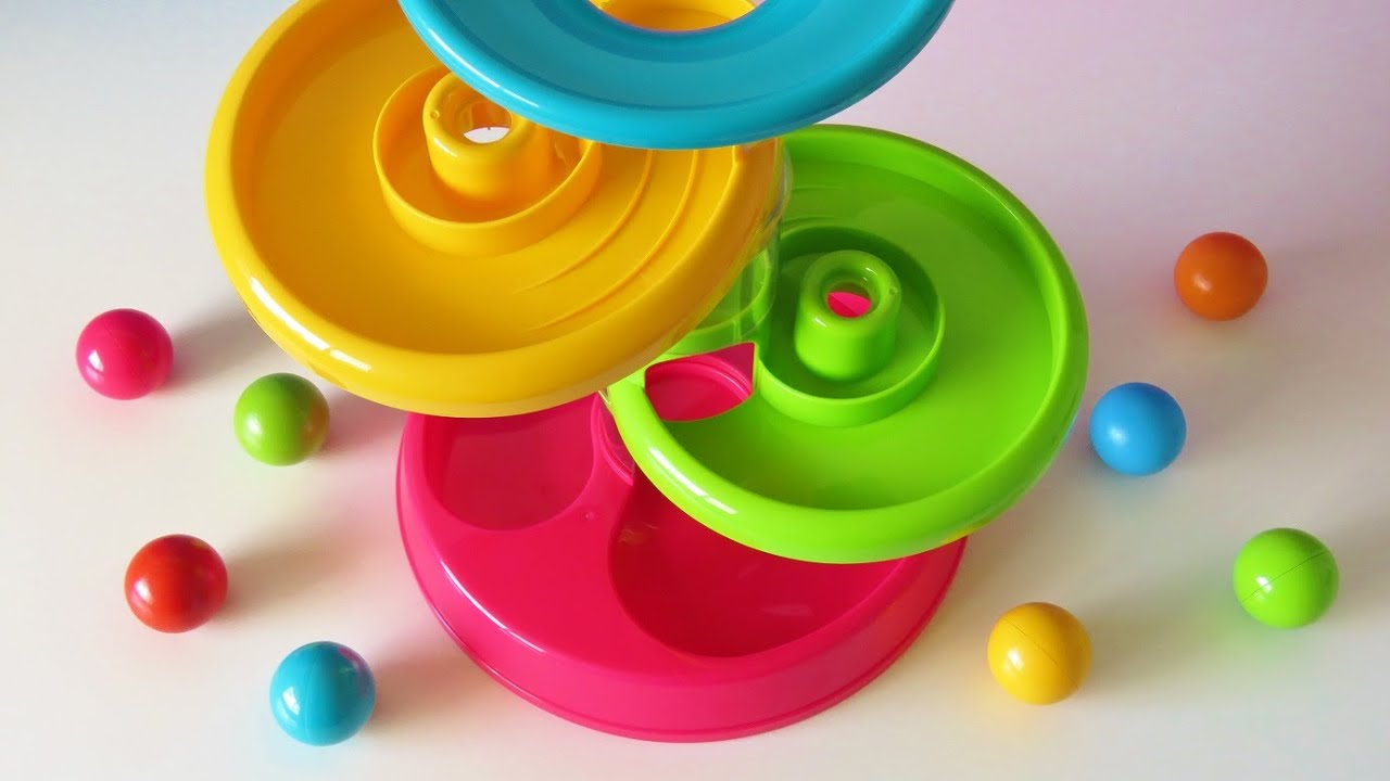 Tower ball baby toy learning video learn colors numbers for babies ...