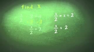 Algebra (Equations 3) - Equations Involving Fractions