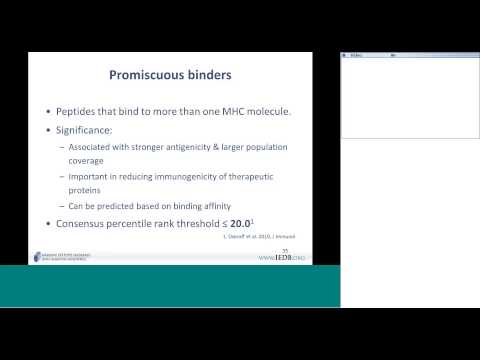Immune Epitope Database (IEDB) 2014 User Workshop Day 2 (3/8) - MHC class II binding predictions