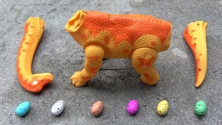 Dinosaur Walking and Laying Eggs Toys Learn Colors & Numbers for Children thumbnail