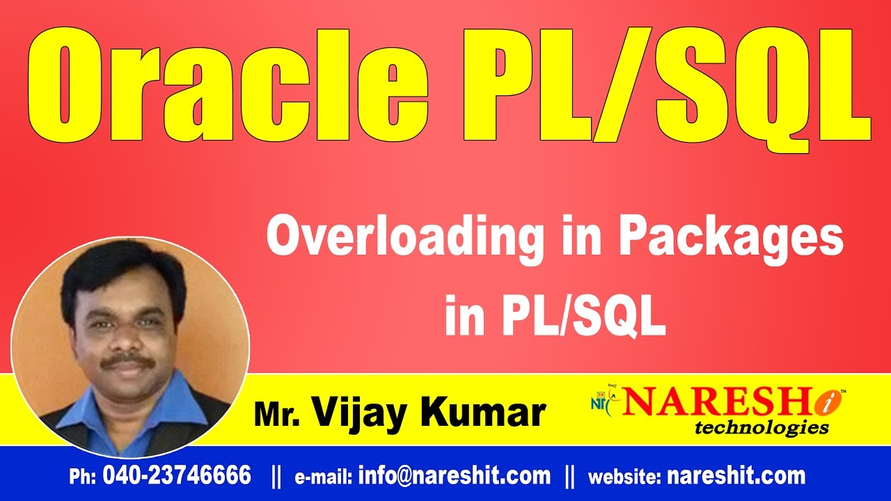 Overloading in packages in pl/sql | oracle pl/sql tutorial videos.