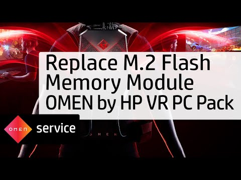 Removing and Replacing the M.2 Flash Memory Module on the OMEN by HP VR PC Pack