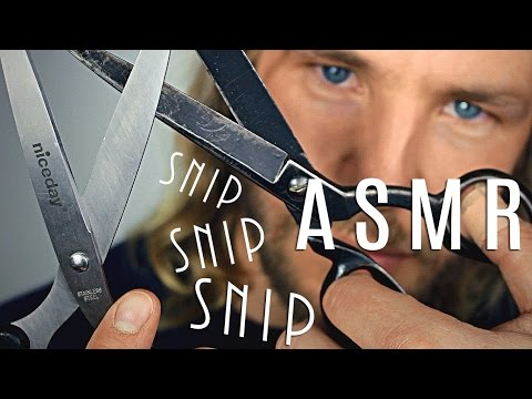 INTENSE SNIPS - ASMR ✮ Binaural Scissor Sounds