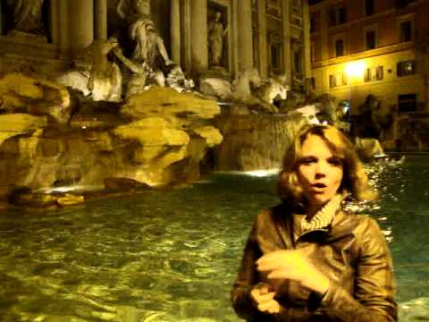 Throwing Our Coins Into The Trevi Fountain (Rome, Italy)