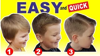 QUICK & EASY HΟME HAIRCUT TUTORIAL   How To Cut Boys Hair With Clippers