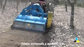 OMAT - T 24 Trincia universale a martelli lavorazione pietra vigneto