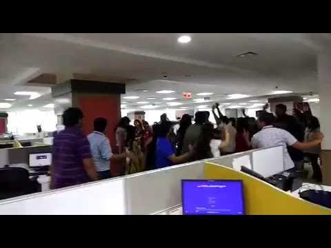 NIIT technologies everyday dance masti on floor