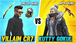 Villain CR7 Vs Kutty Gokul | Clash Squad King👑  Vs Mp40 King 👑  | Who Is Best?