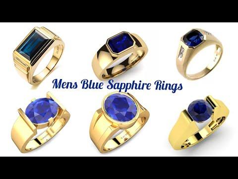 blue-sapphire-gold-rings-for-women- -neela-kal-mothiram- -lucky-stone-rings