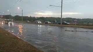 Дамбу затопило. Полтава, вул.Великотирнівська