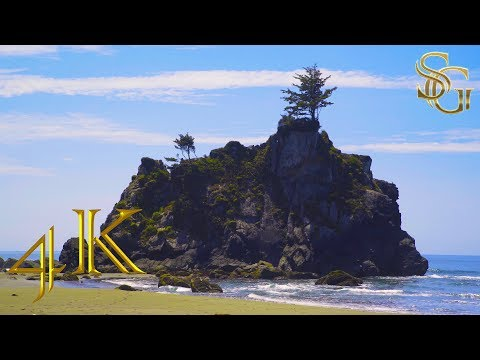 The cliffs, the sea and the wild beach all contribute to relaxation and tranquility | 4K Ultra HD