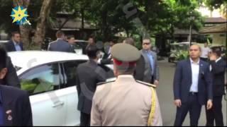 بالفيديو وصول  الرئيس السيسى الى حديقة النباتات بسنغافورة