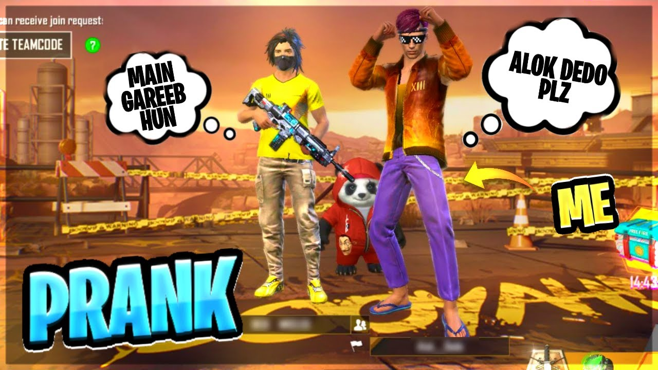 Alok Dedo Noob Prank With Random Player || Free Fire || Desi Gamers