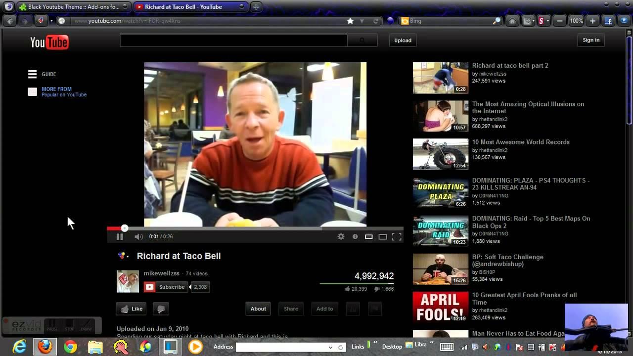 Black YouTube for Mozilla Firefox - YouTube