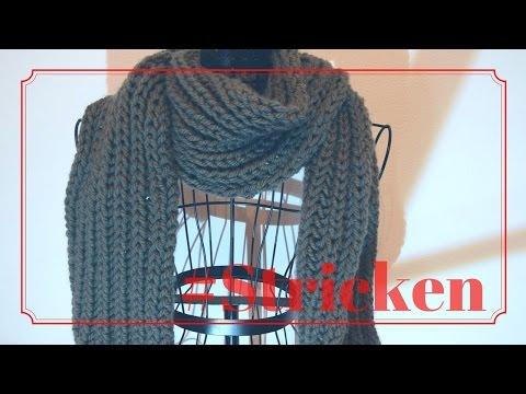 Schal mit Patentmuster stricken