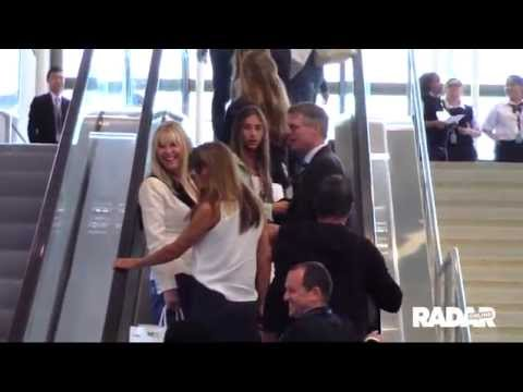 Sylvester Stallone's family at LAX Airport