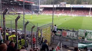 Die Fans des SV Werder Bremen im Schwarzwaldstadion
