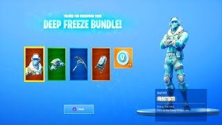 *NEW* DEEP FREEZE BUNDLE! | *NEW* Frostbite Skin With Every Backbling! | Fortnite Skin Bundle!