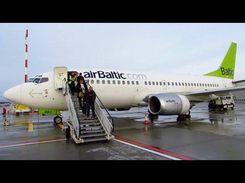 TRIP REPORT | Air Baltic | Berlin TXL to Riga RIX | Full Flight | Boeing 737-300WL [Full HD]