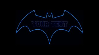 Batman logo intro template free after effects