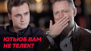 The blogger Sobolev and the journalist Pivovarov : YouTube vs TV