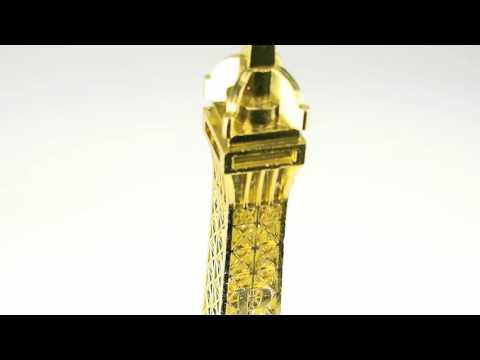 "20"" XXL Gold Silver Black Brown Eiffel Tower France French Parisian Statue Piece"