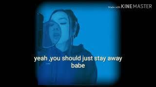 Tatiana manaois_me and love dont get along (lyrics video)..