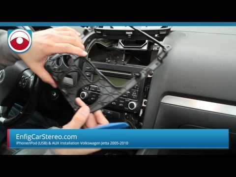 iPhone 7/6/5 iPhone adapter install Volkswagen Jetta GTI Rabbit R32 EOS Golf VW1-IPDU-AUX