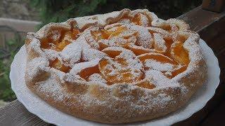 ПИРОГ с абрикосами Очень простой и вкусный пирог ГАЛЕТА