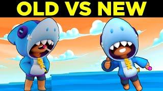 Shark Leon Remodel Brawl Stars Old vs New  Old Shark Leon vs New Shark Leon Comparison