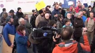 Manifestation comité de soutien bigouden NON à NDDL le Guilvinec 6 dec 2012.