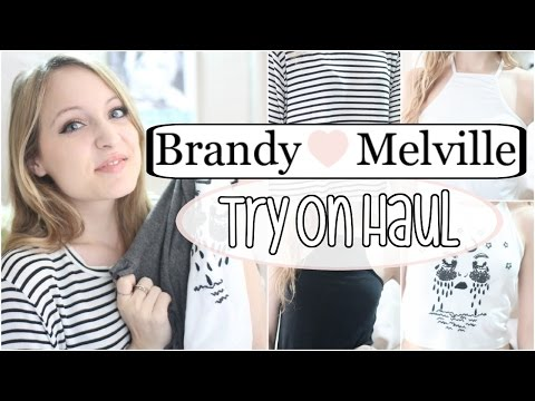 TRY-ON HAUL | Brandy Melville Unboxing & First Impression