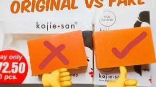 Original kojie San Soap VS Fake kojie San Soap