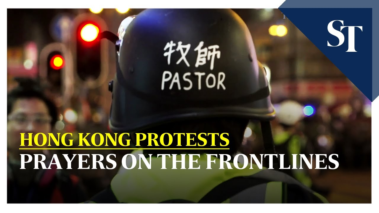 The Straits Times Hong Kong pastor offers prayers on the frontline