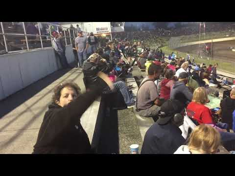 She is very Enthusiastic about Racing - Skagit Speedway - June 1, 2019