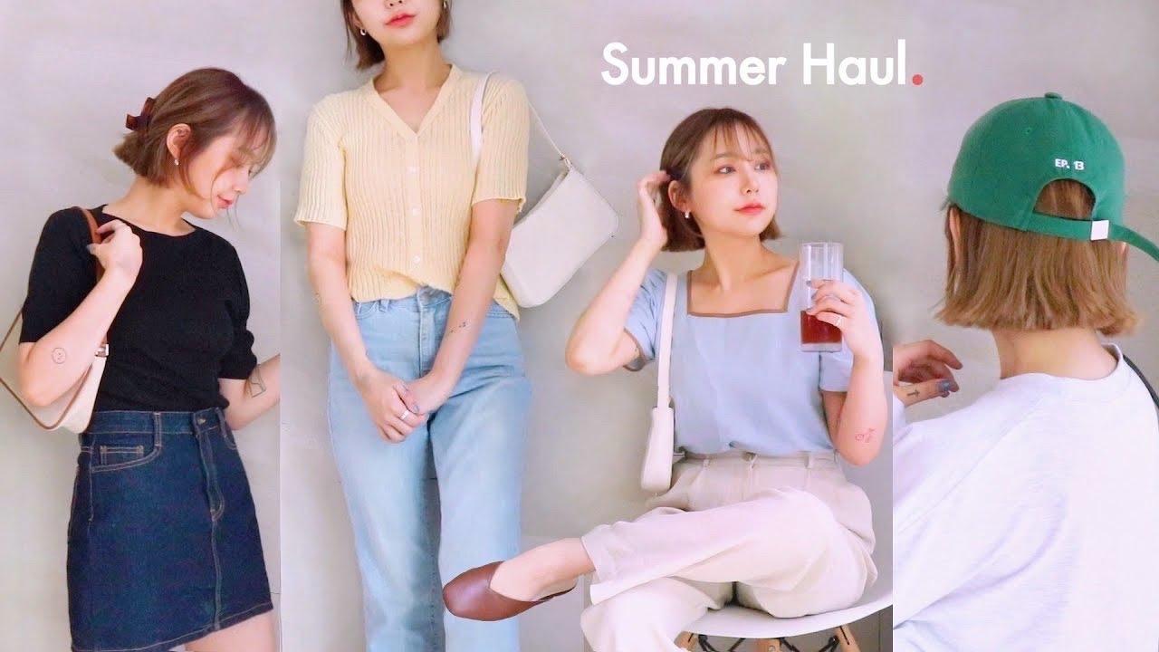𝐒𝐮𝐦𝐦𝐞𝐫 𝐡𝐚𝐮𝐥 👚 여름에 뭐 입지? 꾸안꾸 취향 30가지 여름옷들💛 (ft.반팔티, 블라우스, 셔츠, 가방, 신발까지) | JIANSSI