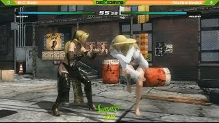 DOA5LR SJ9 Winners Final  XcaliburbladeZ (Helena) vs MC Static (Helena)