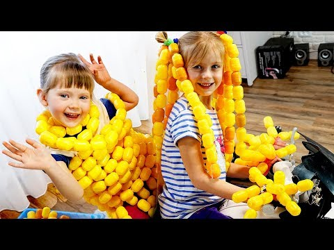 Story with Eggs Surprise Margo and Nastya Play with Toys