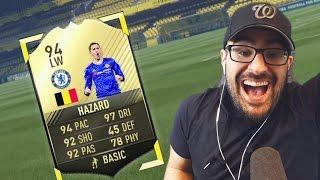 OMG WE GOT 94 HAZARD!! FIFA 17 ultimate team