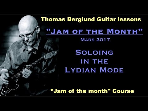 """Jam of the month"" - Mars 2017  - Scales & Phrasing tips - Guitar lesson"