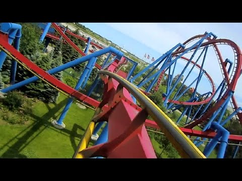 Superman Ultimate Flight front seat on-ride HD POV Six Flags Great America